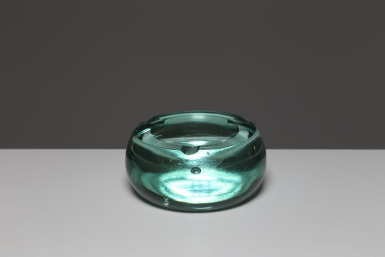 Posacenere in vetro verde, Murano anni 60°