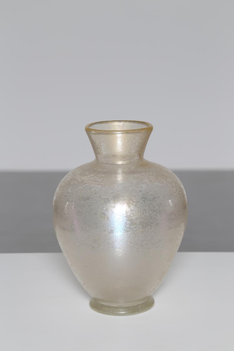 Vaso in vetro corroso, Murano anni 50