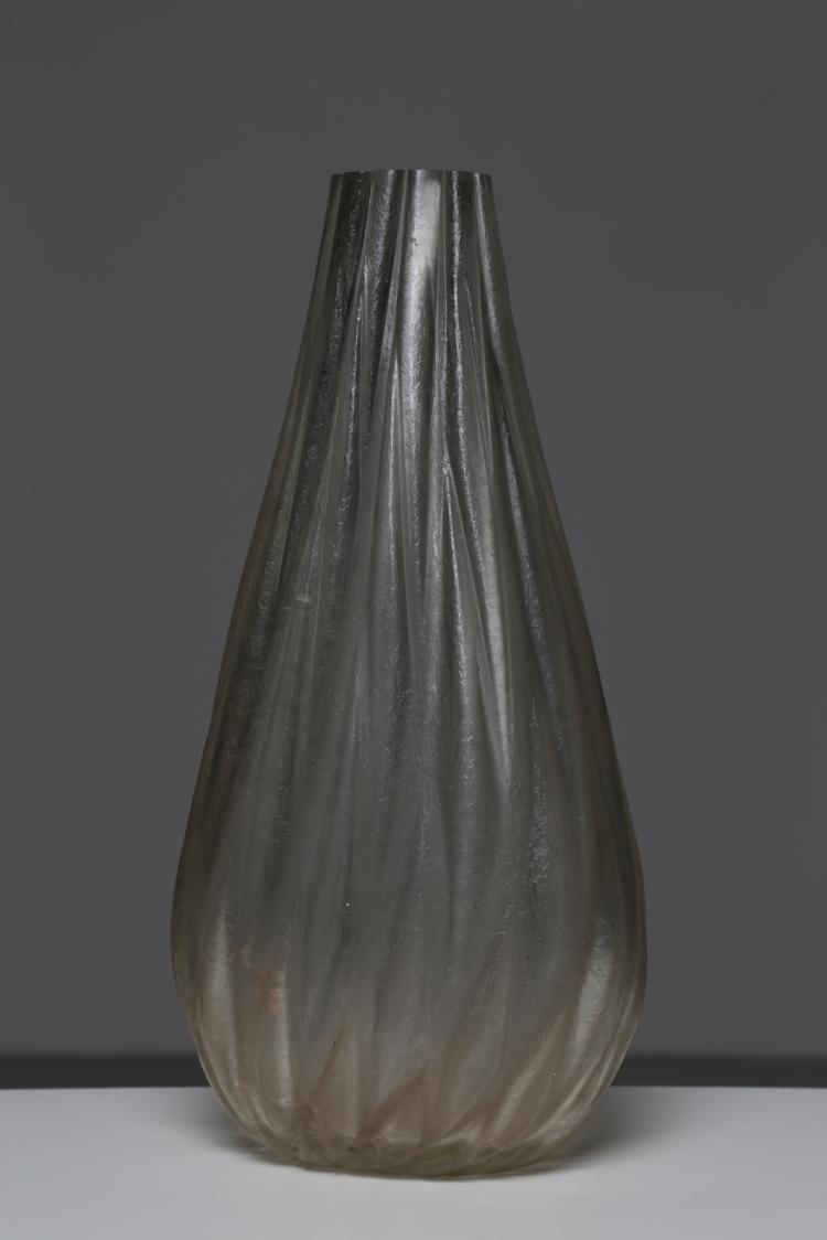 Vaso in vetro acidato, Murano anni 50