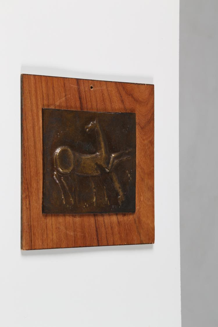Cavalli, fusione in bronzo su legno, Padova anni 60