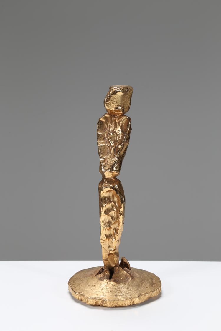 Scultura in ferro dorata, anni 60