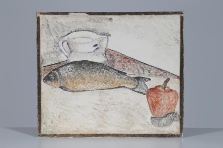 Disegno, pastello su carta, anni 30