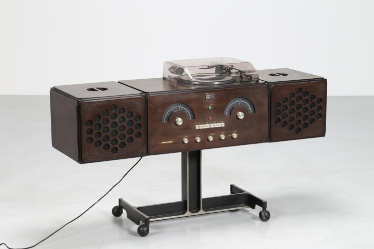 Radio stereo giradischi, Mod. RR126, per Brionvega 1965.