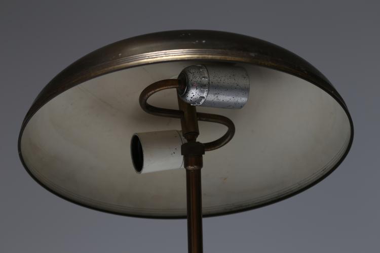 lampada da tavolo in ottone, anni 50