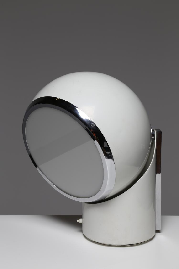 Lampada da tavolo orientabile in metallo laccato e perspex, anni 70