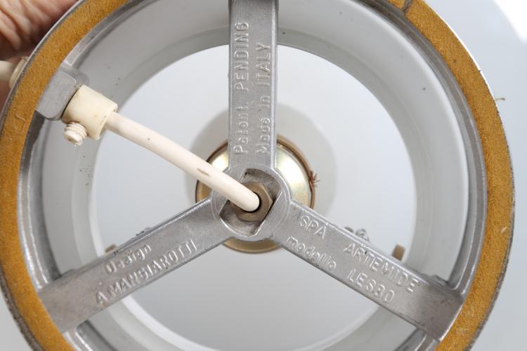 Lampada da tavolo in vetro soffiato produzione Vistosi e met