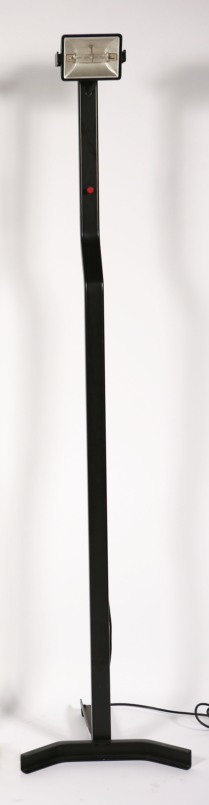Lampada da terra in metallo laccato e dimmer in plastica, mod. Sirio T per, Sirrah, anni 70