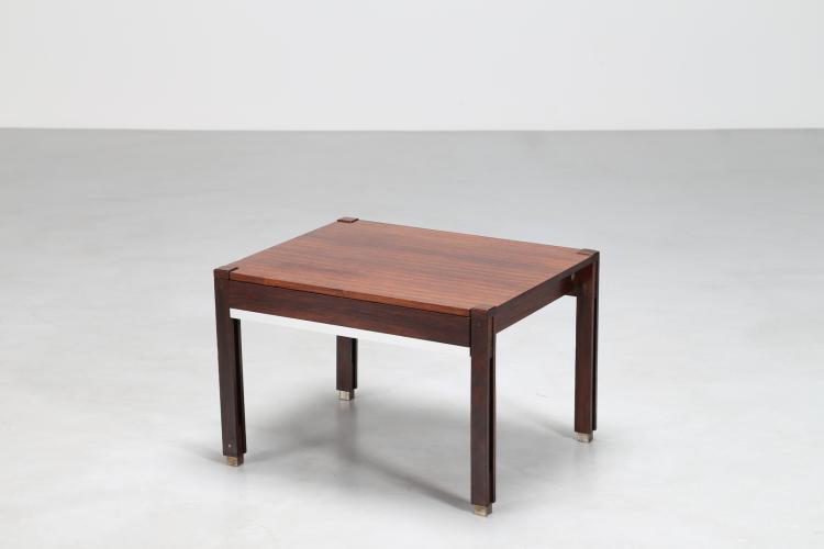 Tavolino con cassetto in palisssandro, per M I M, anni 50