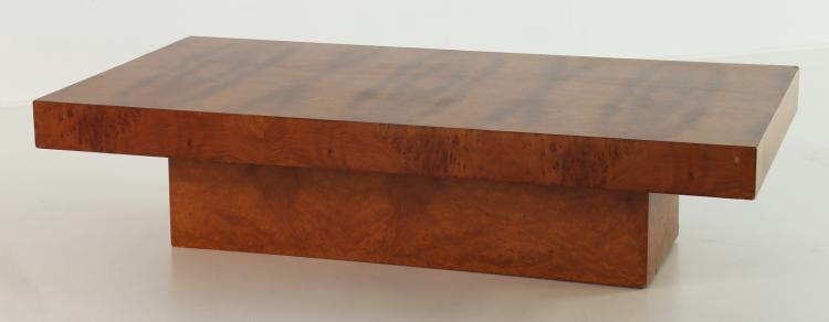 Attrib. Tavolino da caffè in radica, anni 70