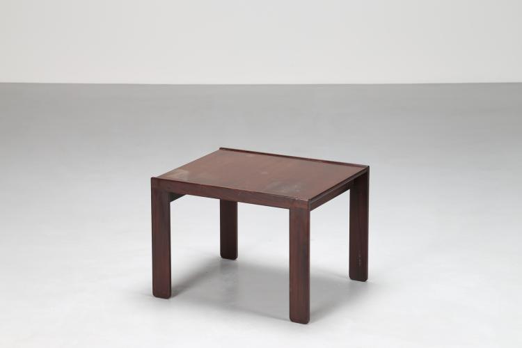Tavolino da caffè in legno di rosa, per Cassina 1960