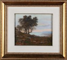 VERNI ARTURO (1891 - 1960) Veduta lacustre.