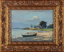 VERNI ARTURO (1891 - 1960) Veduta del lago di Garda.