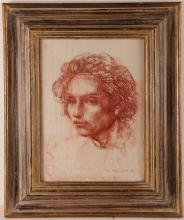 ANNIGONI PIETRO (1910 - 1988) Boy - woman face?