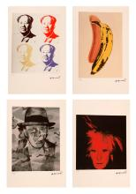 WARHOL ANDY (1928 - 1987) Lot composed of 4 sheets.
