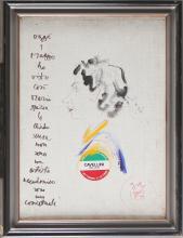 CAVELLINI GUGLIELMO ACHILLE (1914 - 1990) Caricature portrait of the painter Grazia Lazzarini.