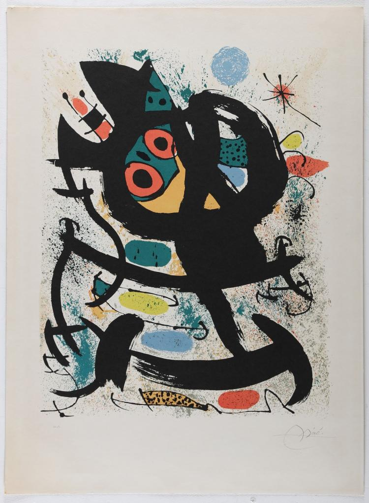 MIRO' JOAN (1893 - 1983) Exhibition at Pasadena Art Museum.
