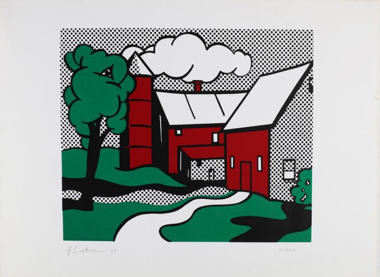 LICHTENSTEIN ROY (1923 - 1997) Red Barn.