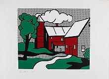 LICHTENSTEIN ROY (1923 - 1997) Red Barn.