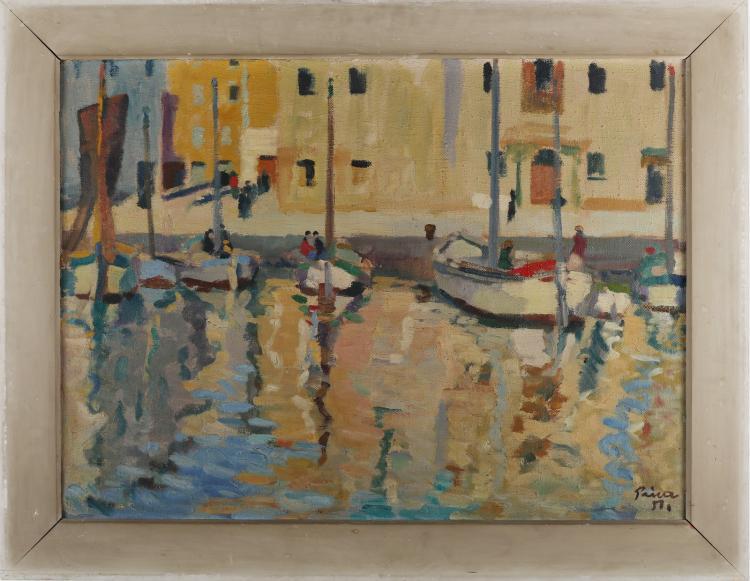 PRICA ZLATKO (1916 - 2003) Jellow port.