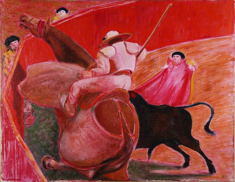 SASSU ALIGI (1912 - 2000) El picador rosado.
