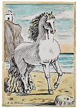 DE CHIRICO GIORGIO (1888 - 1978) Horse on the beach.