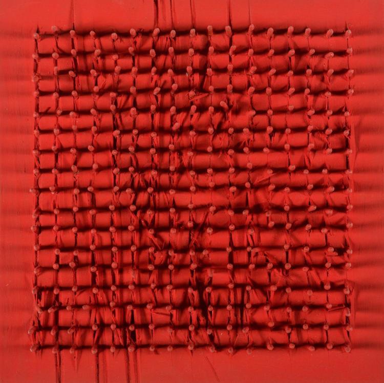 AUBERTIN BERNARD (1934 - 2015) Tableaux clous.