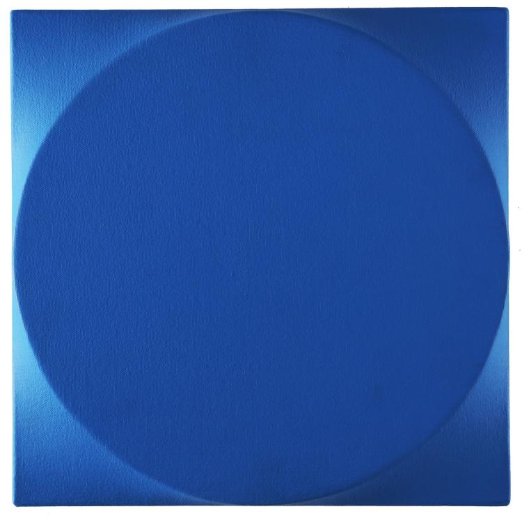 SIMETI TURI (n. 1929) Tondo blu.