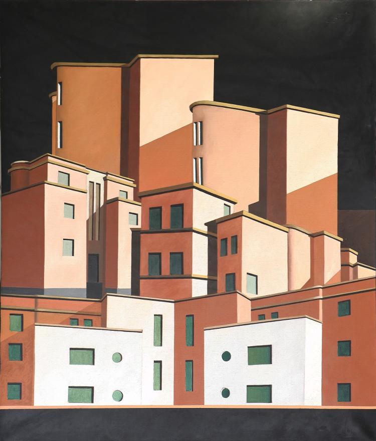 PETRUS MARCO (n. 1960) Italian city.