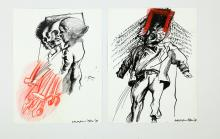 VAGLIERI TINO (1929 - 2000) Lot composed of. 2 artworks. From suburbs.