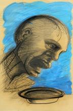 VAGLIERI TINO (1929 - 2000) Hungry man.