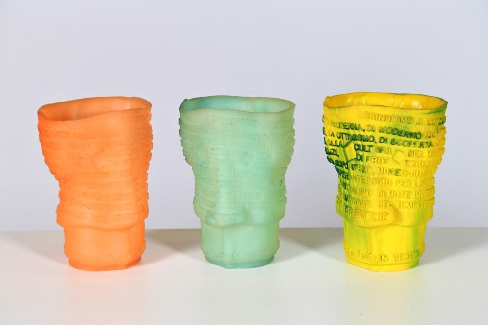PESCE GAETANO (n. 1939) Three Goto vases