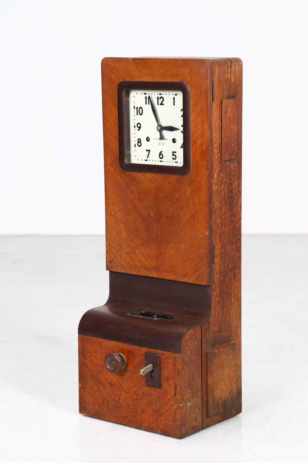 PONTI GIO' (1891 - 1979) Employee control clock