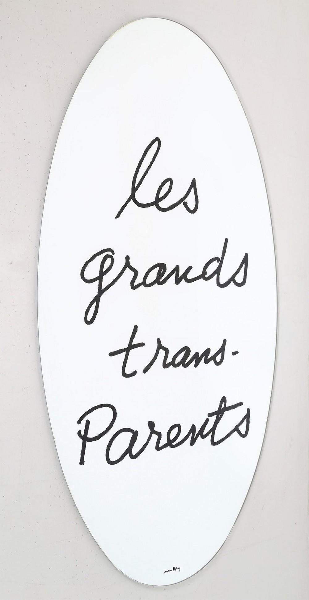 """MAN RAY  (1890 - 1976) """"Les grands trans-parents"""" mirror"""