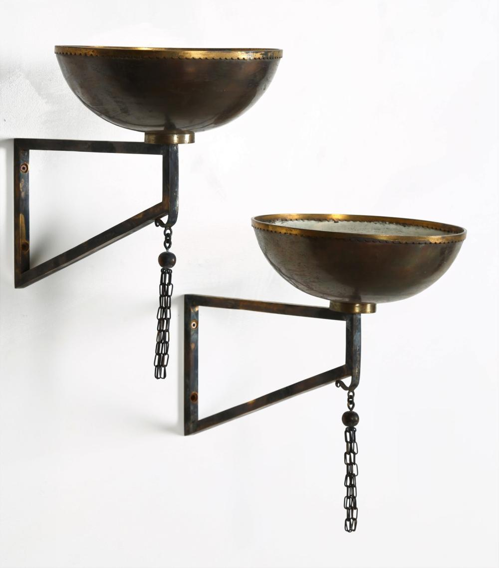 ITALIAN MANUFACTURE Pair of wall lamps