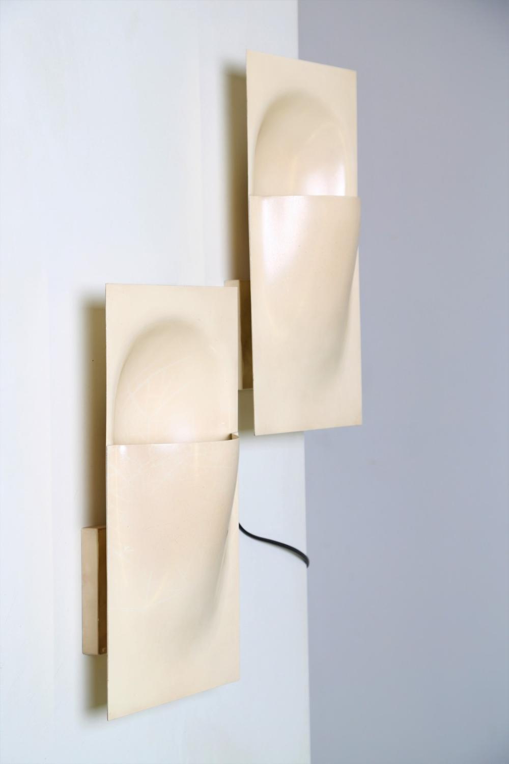 BERTAND BALAS  Pair of wall lamps  mod. Balance C-1550