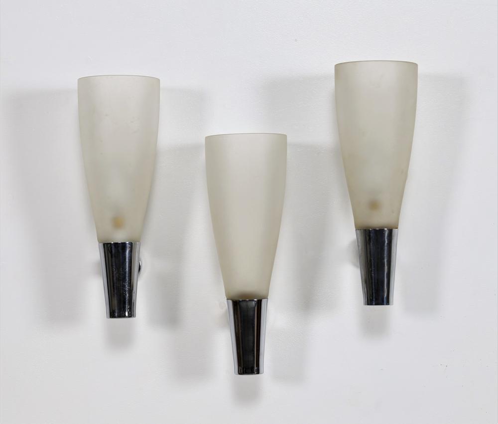 CHIESA PIETRO (1892 - 1948) Three wall lamps