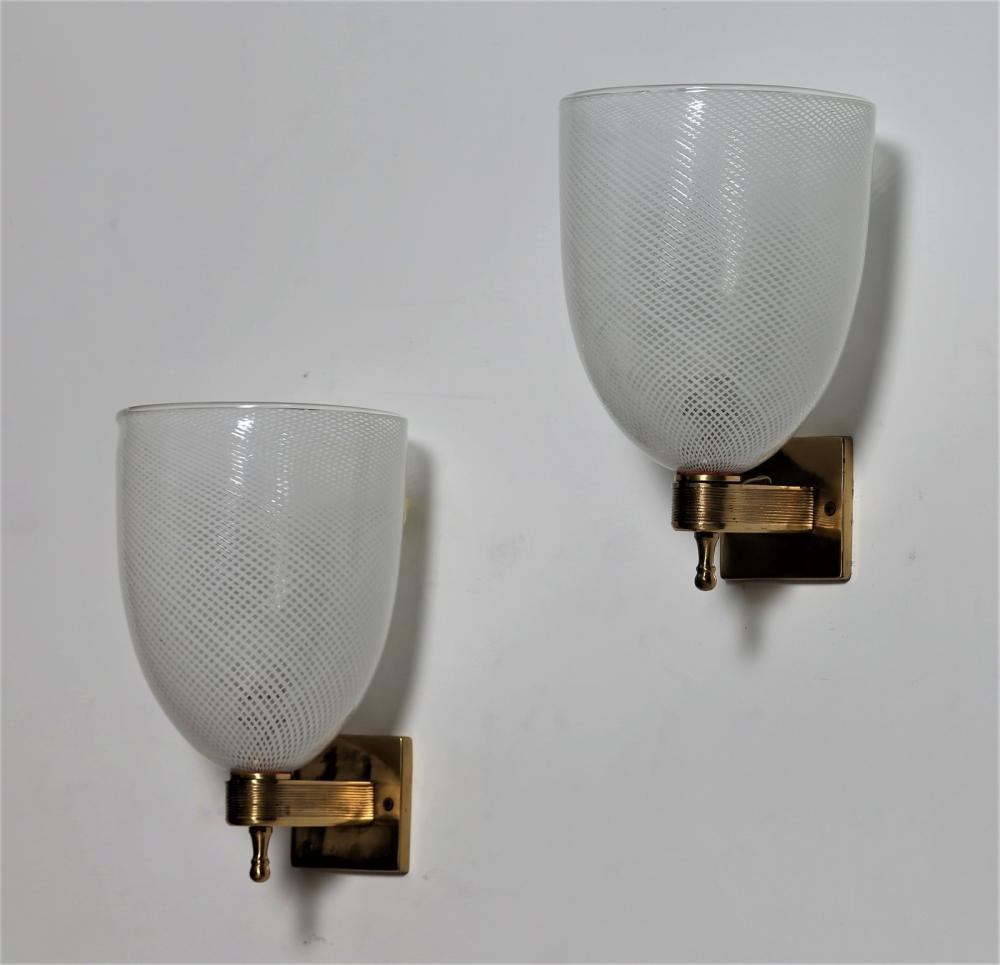VENINI Pair of wall lamps