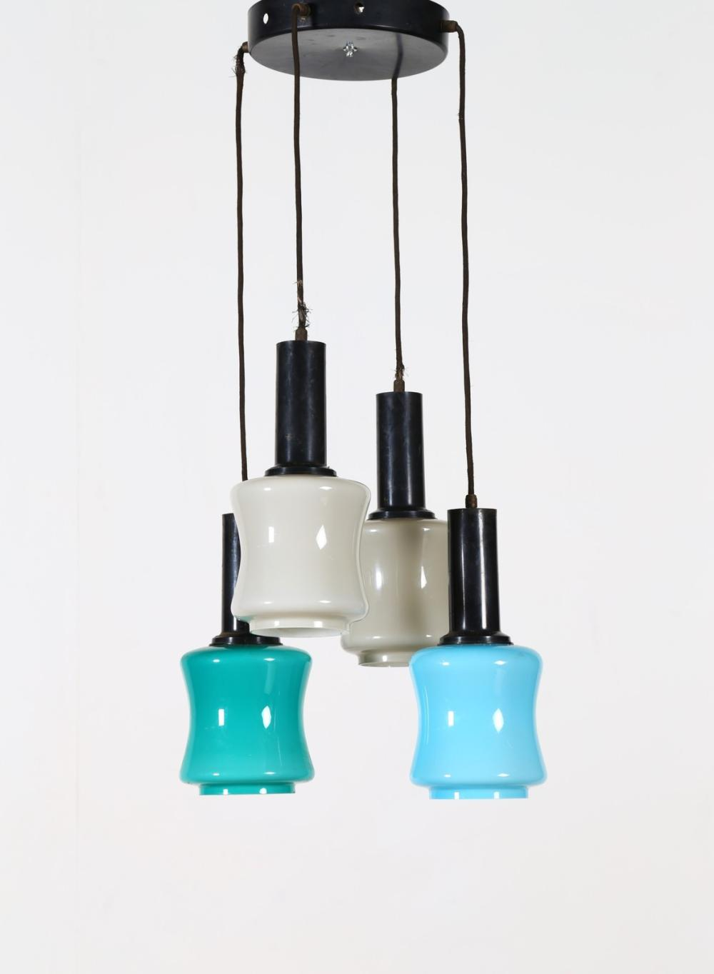 VISTOSI GINO (1925 - 1980) Four lights chandelier