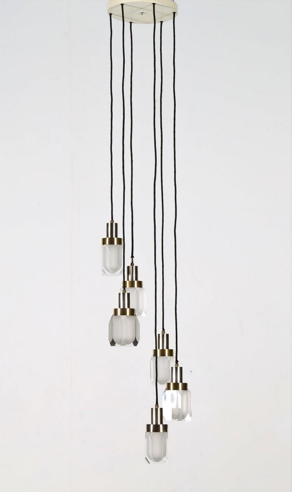 GAETANO MISSAGLIA  Six lights chandelier