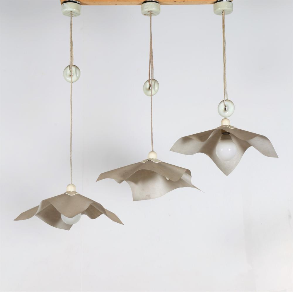 BELLINI MARIO (n. 1935) Three ceiling lamps mod. Area