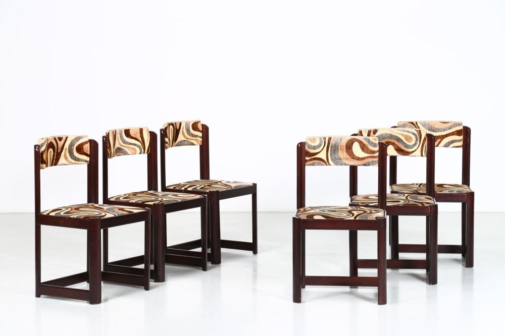 MANGIAROTTI ANGELO (n. 1921) Six chairs