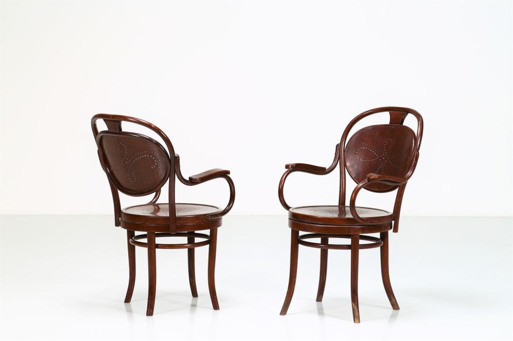THONET, VIENNA Pair of chairs