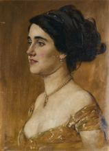 PASINI EMILIO (1872 - 1953) Portrait of Elvira de Hidalgo.