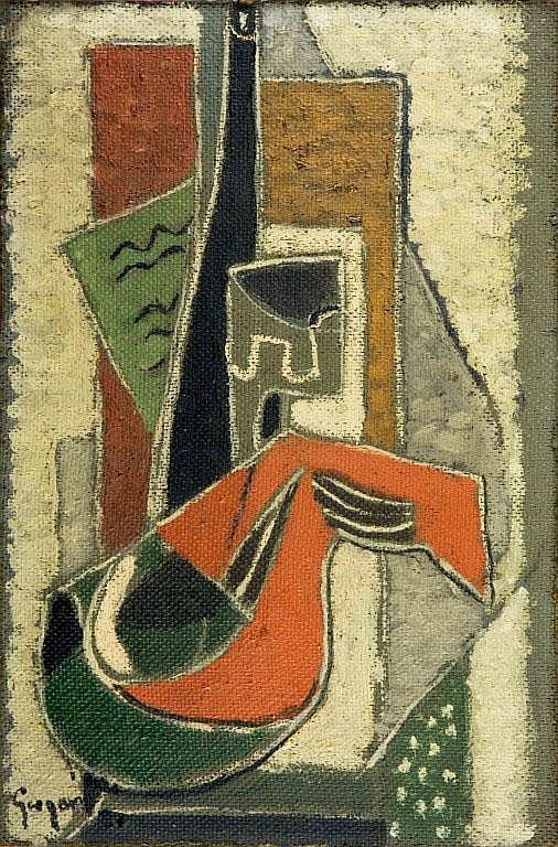 Composizione GINO GREGORI (1906-1973) Olio su