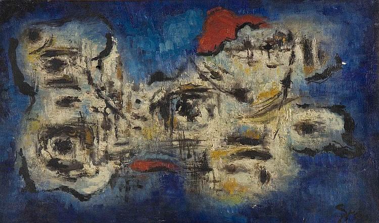 Accordi bianchi e blu GINO GREGORI (1906-1973)