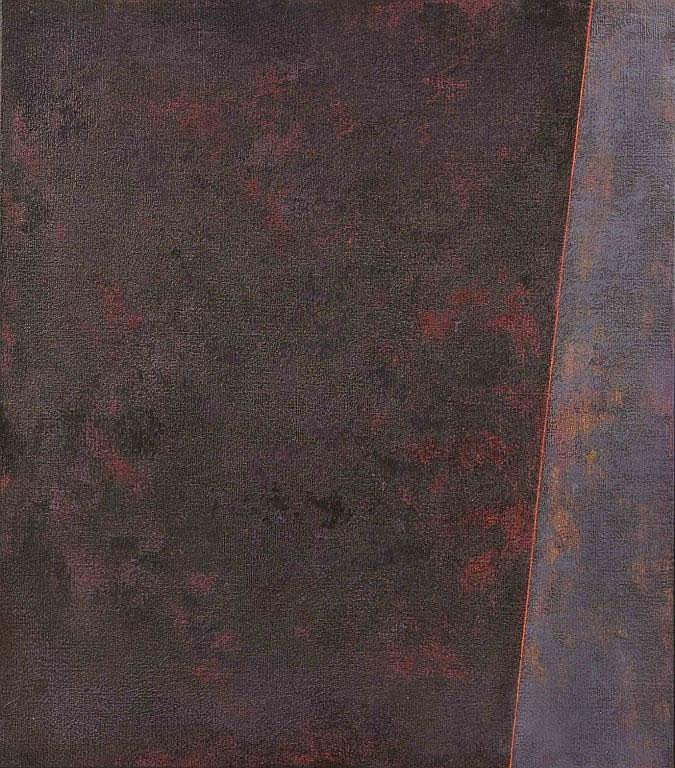 Nilo viola Autentica dell'artista su fotografia,