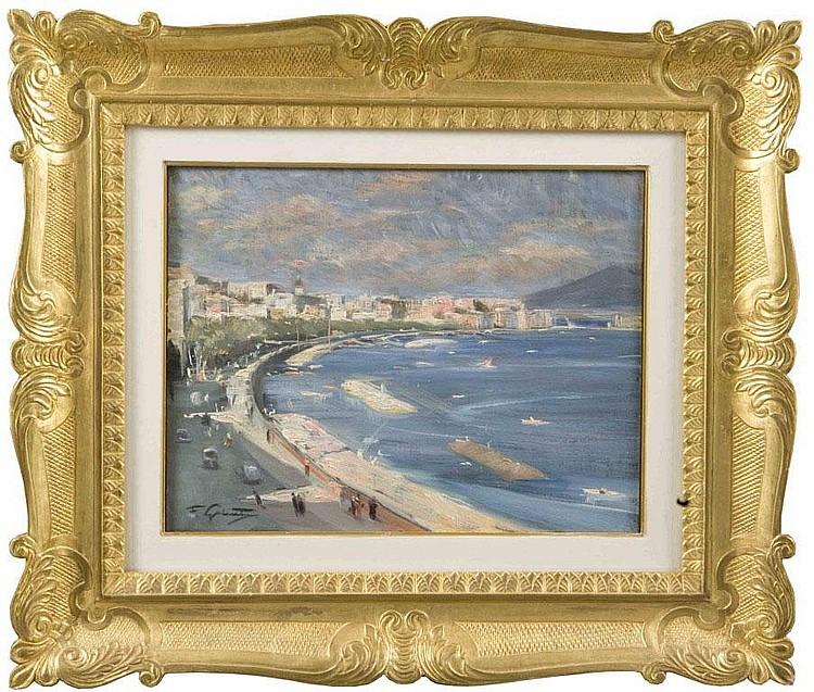 FRANCESCO GALANTE (1884-1972) Golfo di Napoli Olio