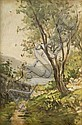 ANGELO FIESSI (1891-1977) Vie di Montisola Olio su