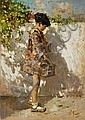 VINCENZO IROLLI (1860-1942) La scolaretta Olio su