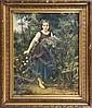 ANTOINE BRASSOILE (XIX-XX SECOLO) Fanciulla in un